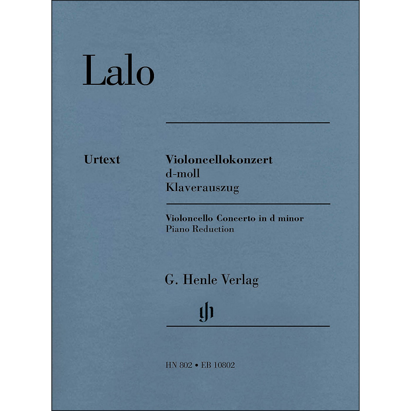 G. Henle Verlag Concerto D Minor for Violoncello And Orchestra Piano Reduction By Lalo / Jost thumbnail