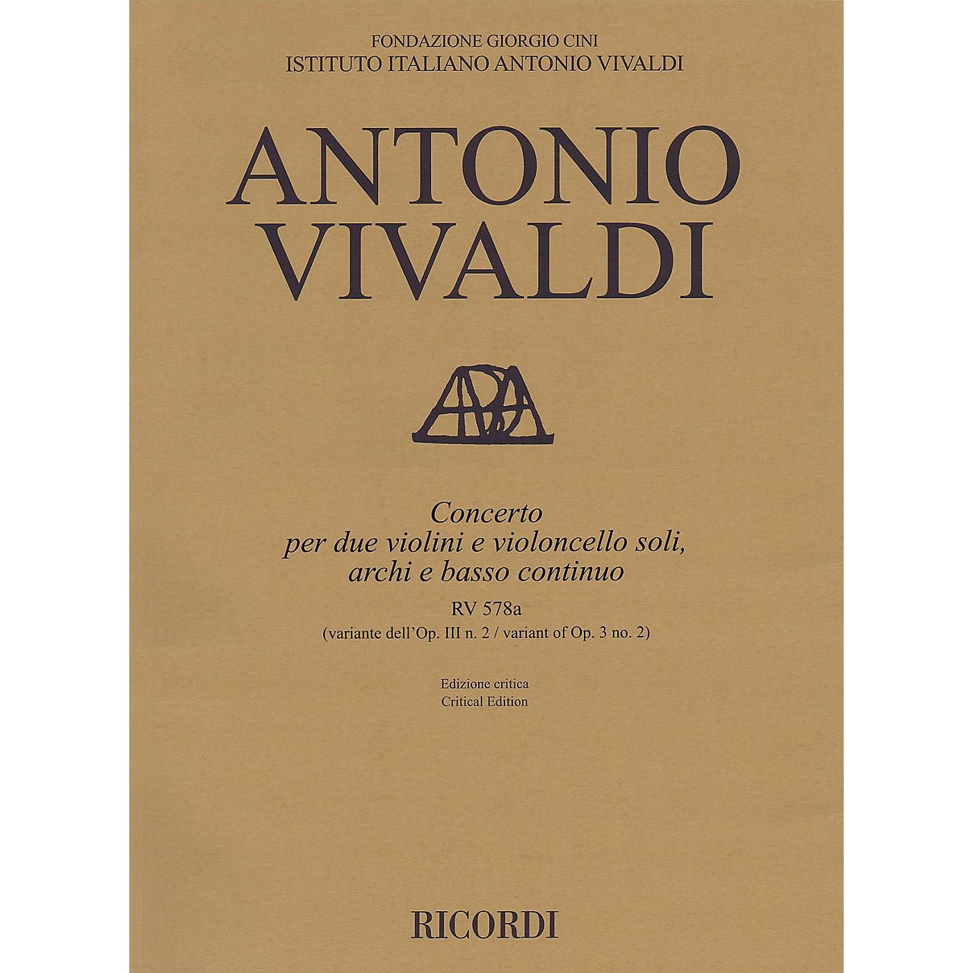 Ricordi Concerto G Minor, RV 578a, Op. 3, No. 2 String Orchestra Series Softcover Composed by Antonio Vivaldi thumbnail