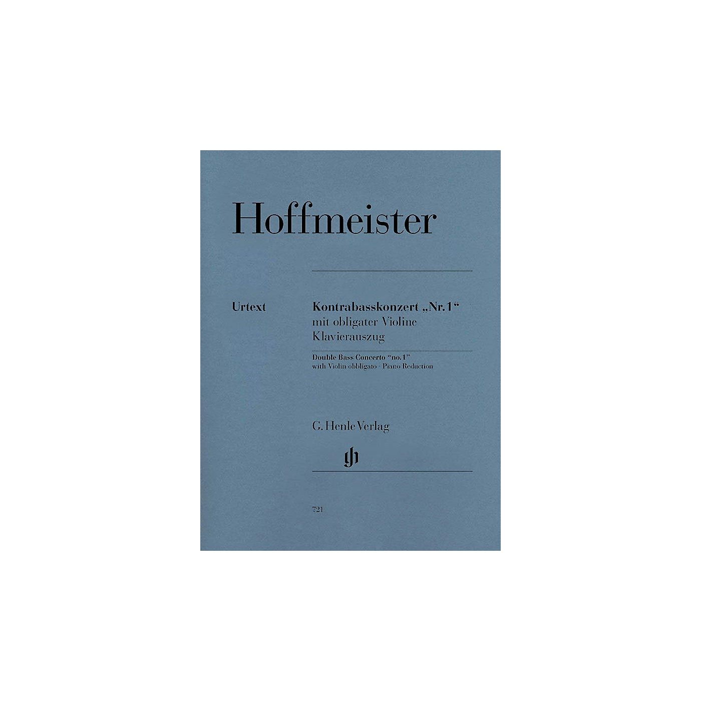 G. Henle Verlag Concerto No. 1 for Double Bass and Orchestra with Violin Obbligato Henle Music Folios Series Softcover thumbnail