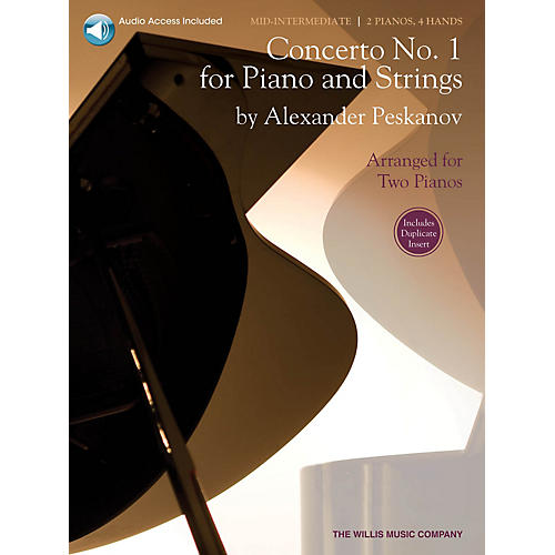 Willis Music Concerto No. 1 for Piano and Strings Willis Series Book with CD by Alexander Peskanov (Level Mid-Inter) thumbnail