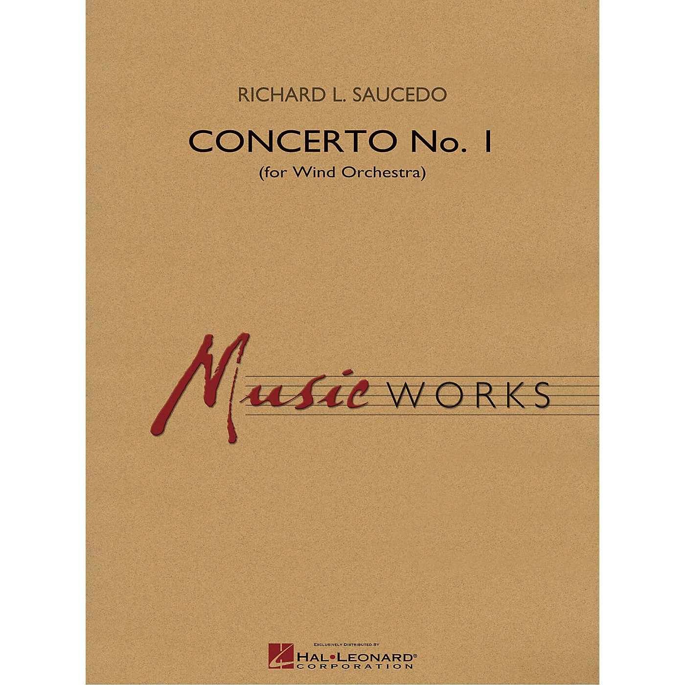 Hal Leonard Concerto No. 1 (for Wind Orchestra) Concert Band Level 5 Composed by Richard L. Saucedo thumbnail