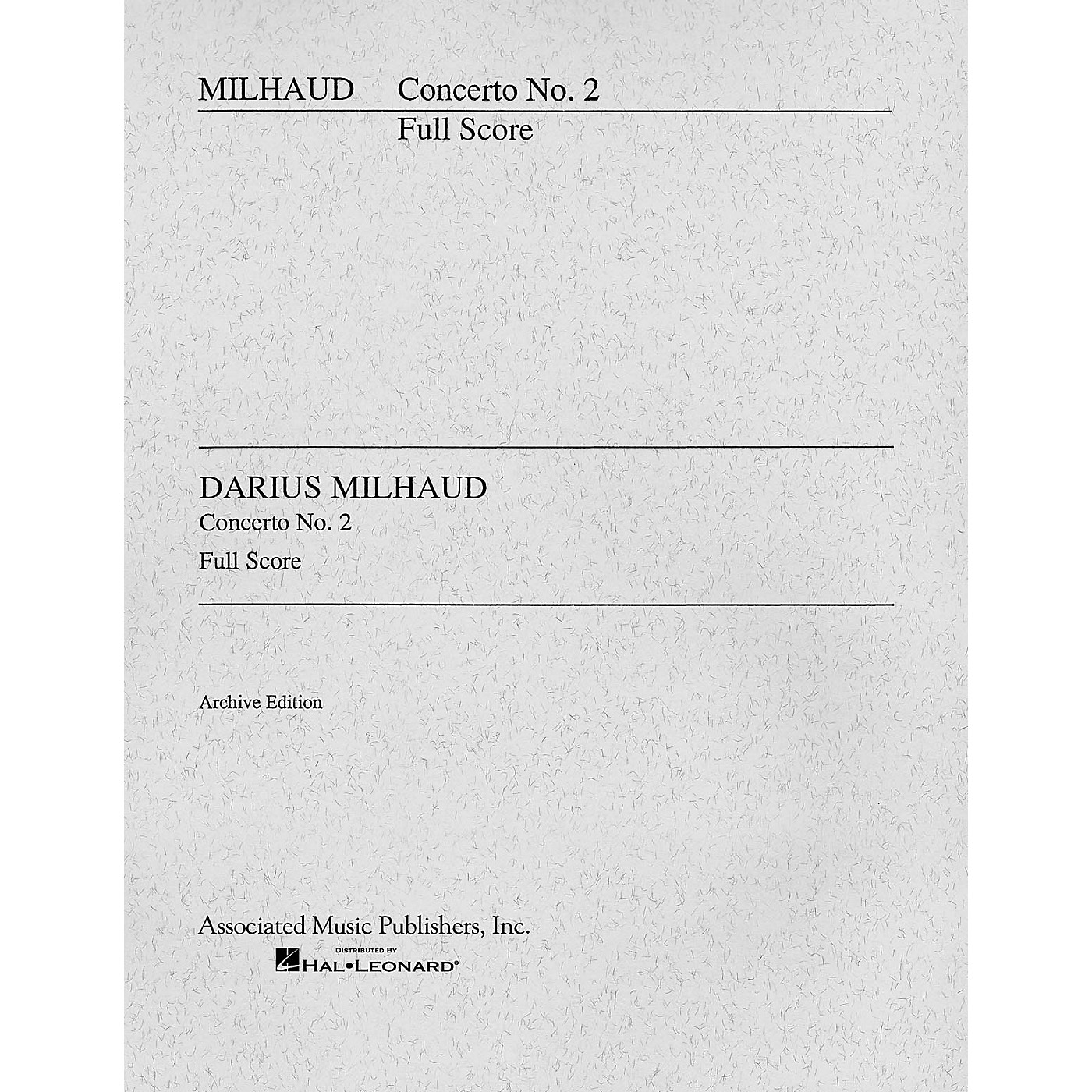 Associated Concerto No. 2 (Cello and Orchestra Full Score) Study Score Series Composed by Darius Milhaud thumbnail