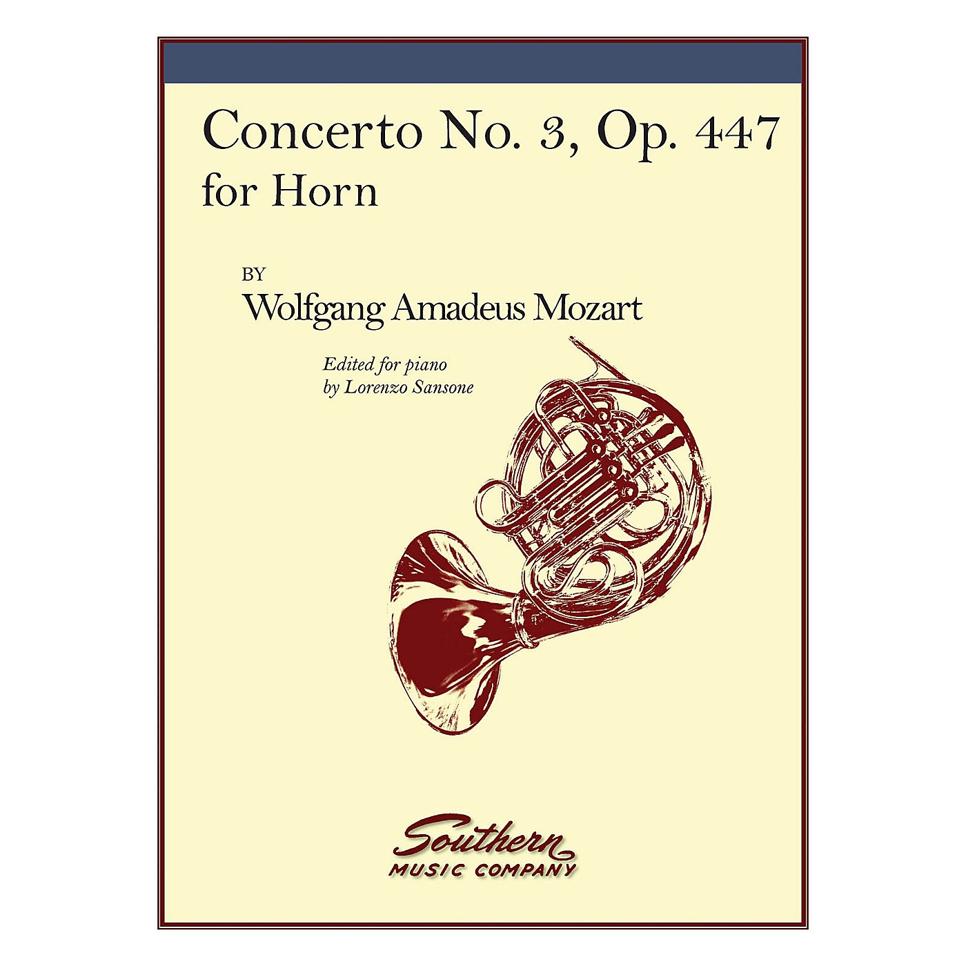 Southern Concerto No. 3, K447 (Horn) Southern Music Series Arranged by Lorenzo Sansone thumbnail