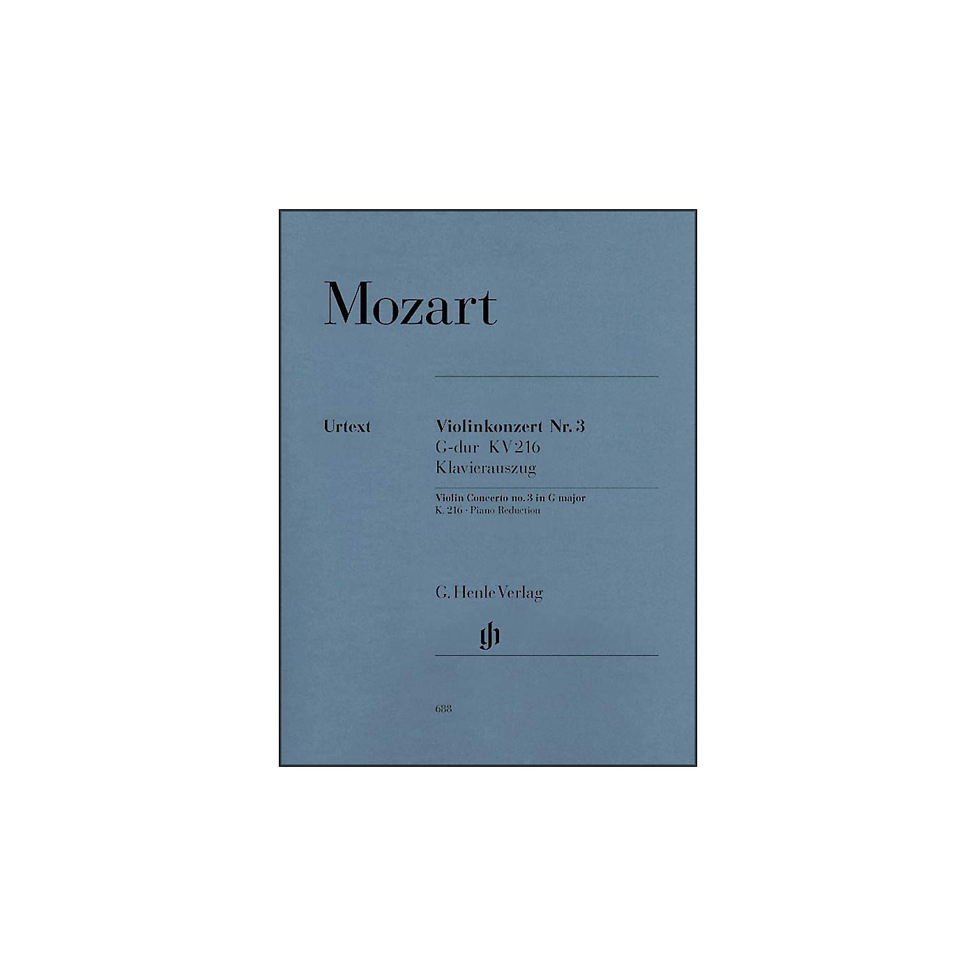 G. Henle Verlag Concerto No. 3 in G Major K216 By Mozart thumbnail