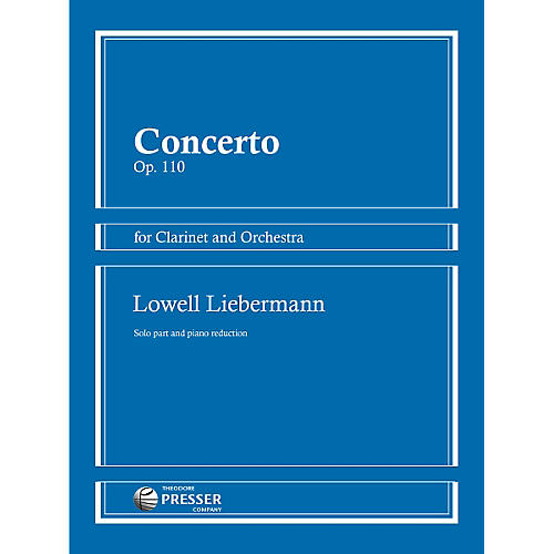 Theodore Presser Concerto Op. 110 for Clarinet and Orchestra-thumbnail