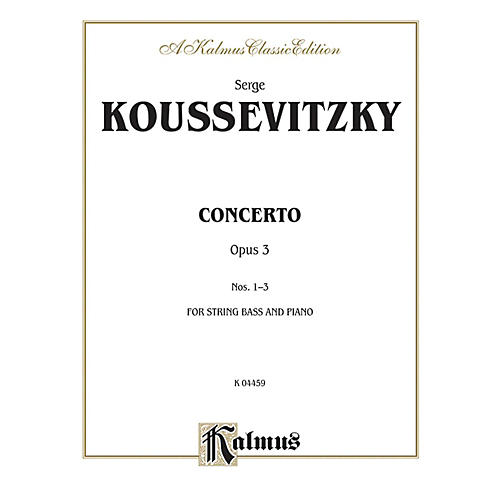 Alfred Concerto Op. 3 for String Bass By Serge Koussevitzky Book thumbnail