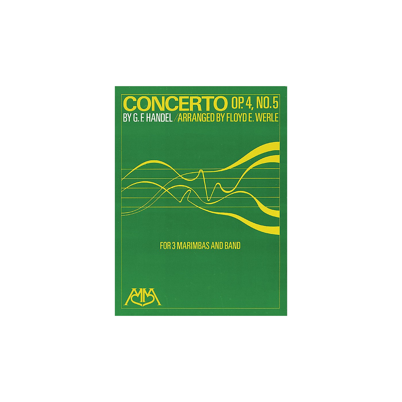 Hal Leonard Concerto Op. 4, No. 5 (for 3 Marimbas and Band) Concert Band Arranged by Floyd E. Werle thumbnail