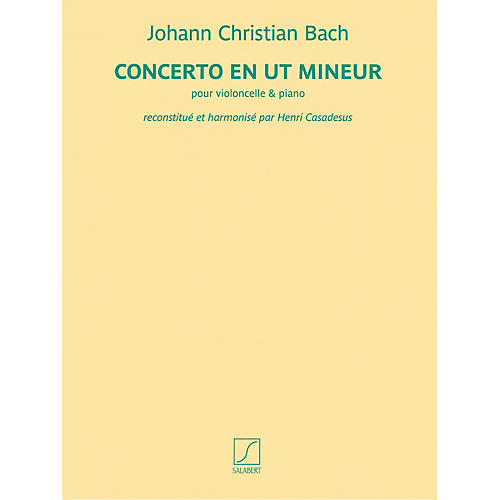 Salabert Concerto en ut mineur (for Cello and Piano) Salabert Series Softcover Composed by Johann Christian Bach thumbnail