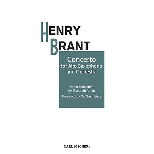 Carl Fischer Concerto for Alto Sax and Orchestra thumbnail