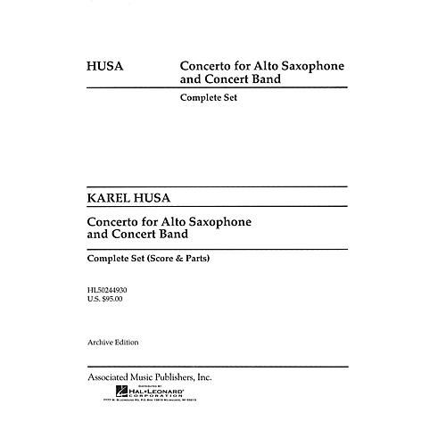Associated Concerto for Alto Saxophone and Concert Band (Score and Parts) Concert Band Level 4-5 by Karel Husa thumbnail