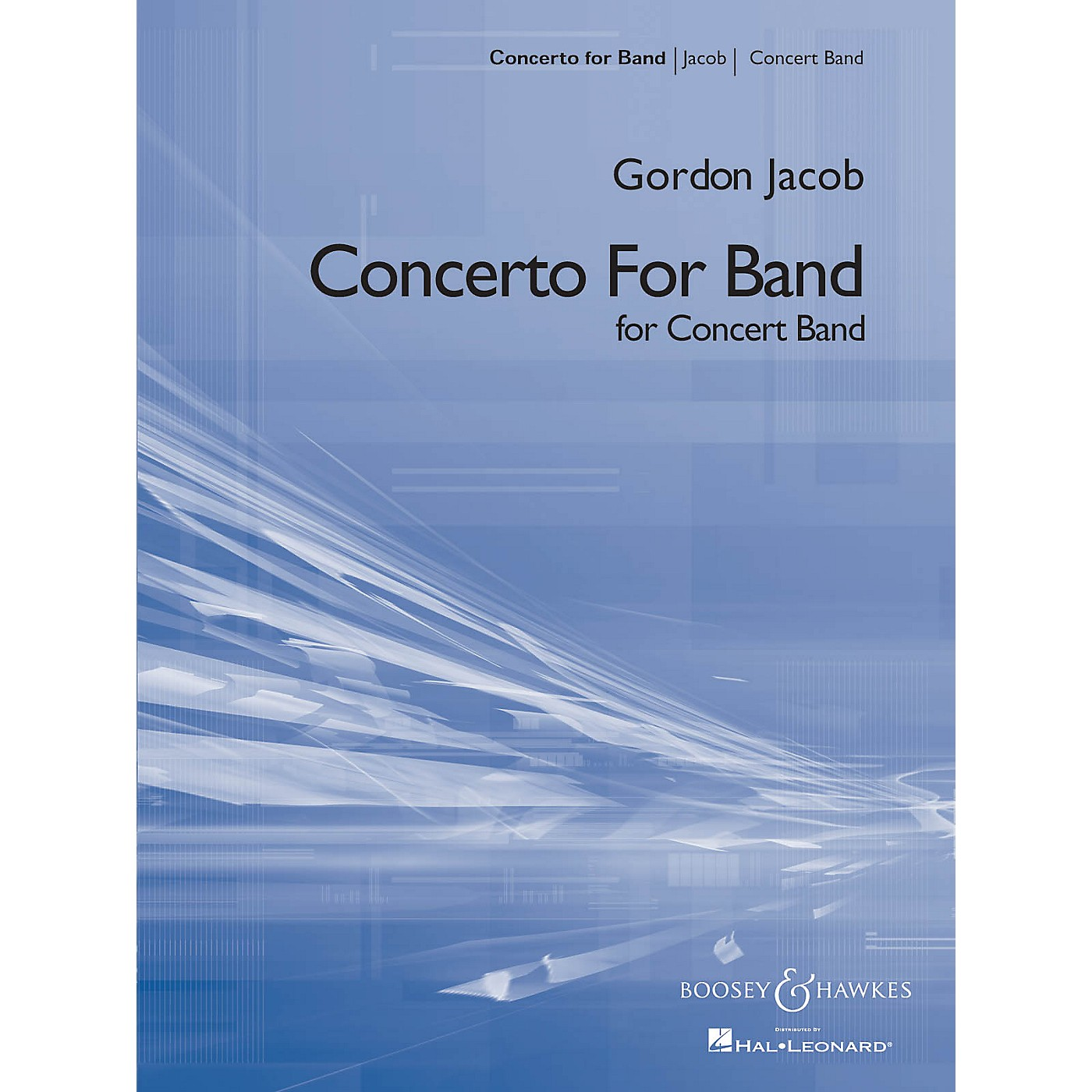 Boosey and Hawkes Concerto for Band (Score and Parts) Concert Band Composed by Gordon Jacob thumbnail