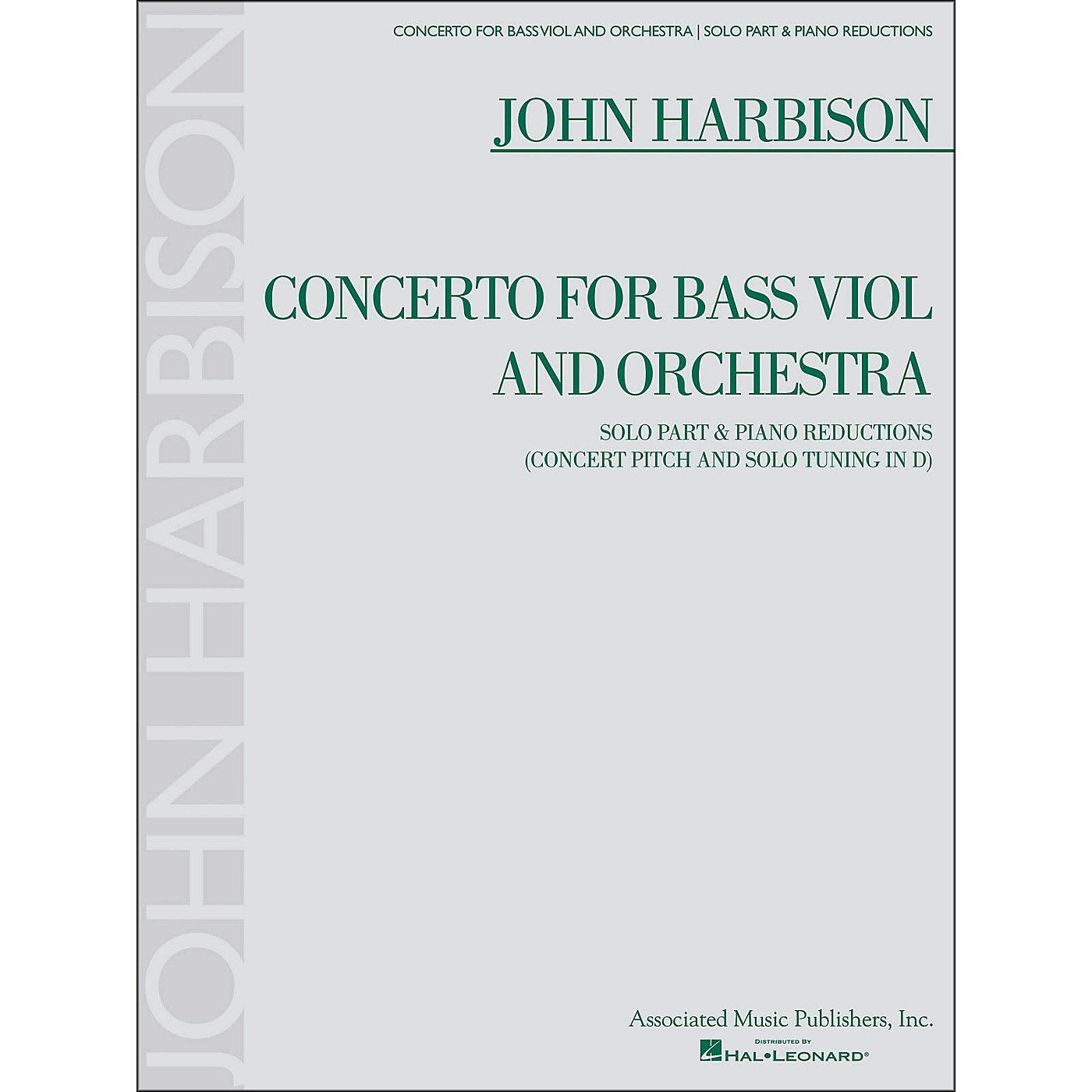 G. Schirmer Concerto for Bass Viol And Orchestra Double Bass And Piano Reductions By Harbison thumbnail