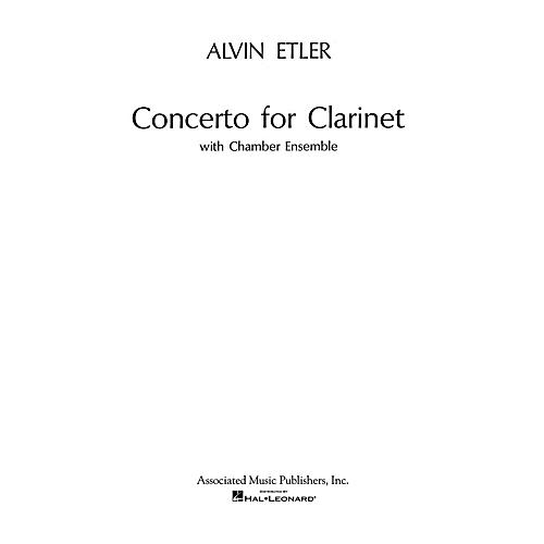Associated Concerto for Clarinet and Chamber Ensemble (1962) (Full Score) Woodwind Solo Series by Alvin Etler thumbnail