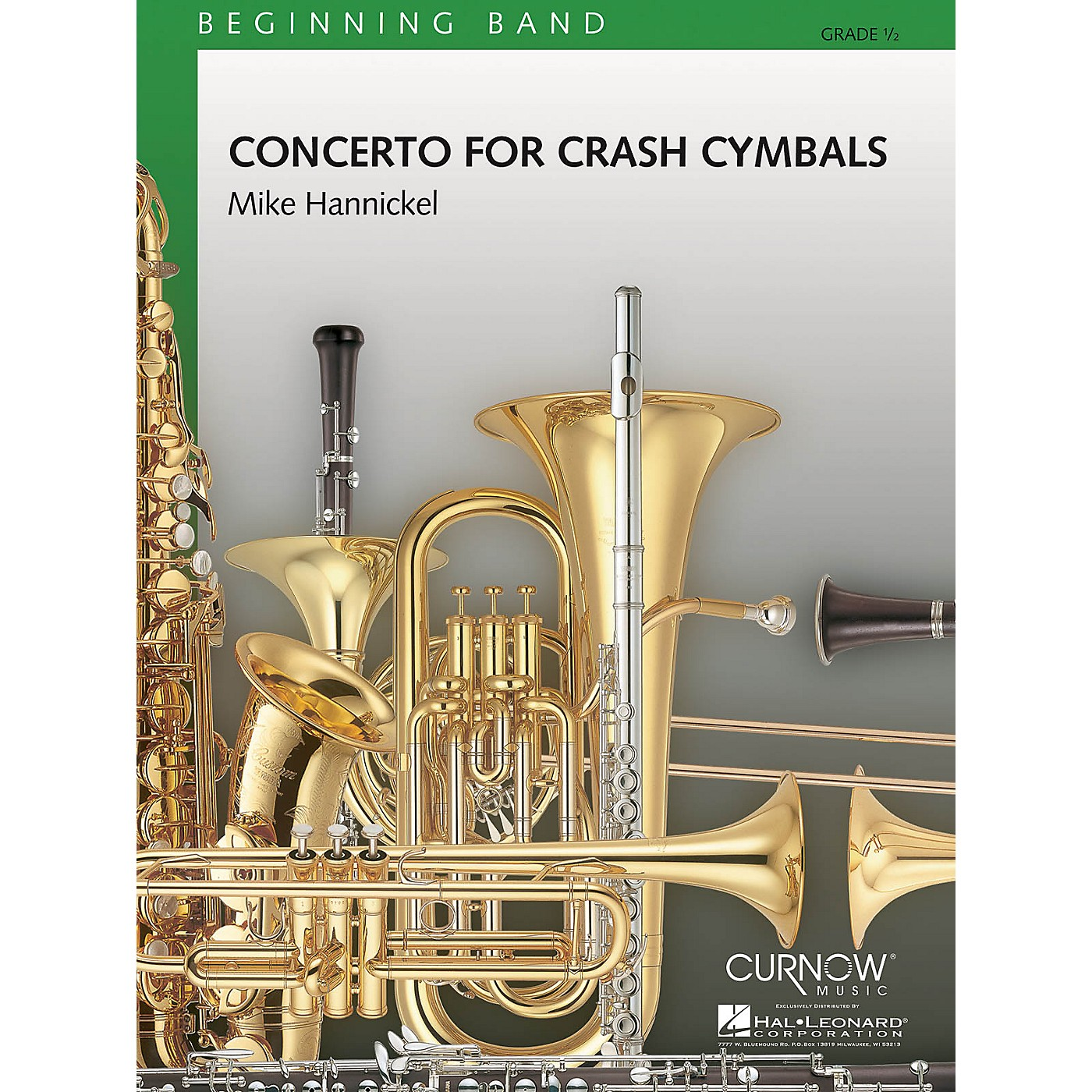 Curnow Music Concerto for Crash Cymbals (Grade 0.5 - Score and Parts) Concert Band Level .5 Composed by Mike Hannickel thumbnail