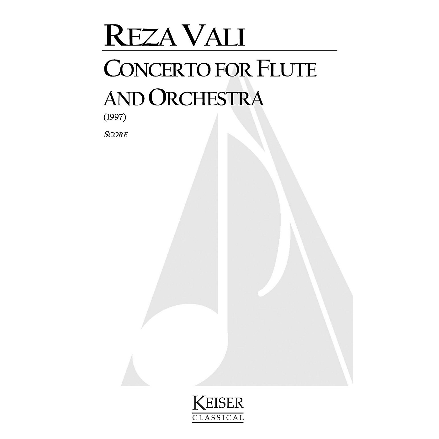 Lauren Keiser Music Publishing Concerto for Flute and Orchestra LKM Music Series Composed by Reza Vali thumbnail