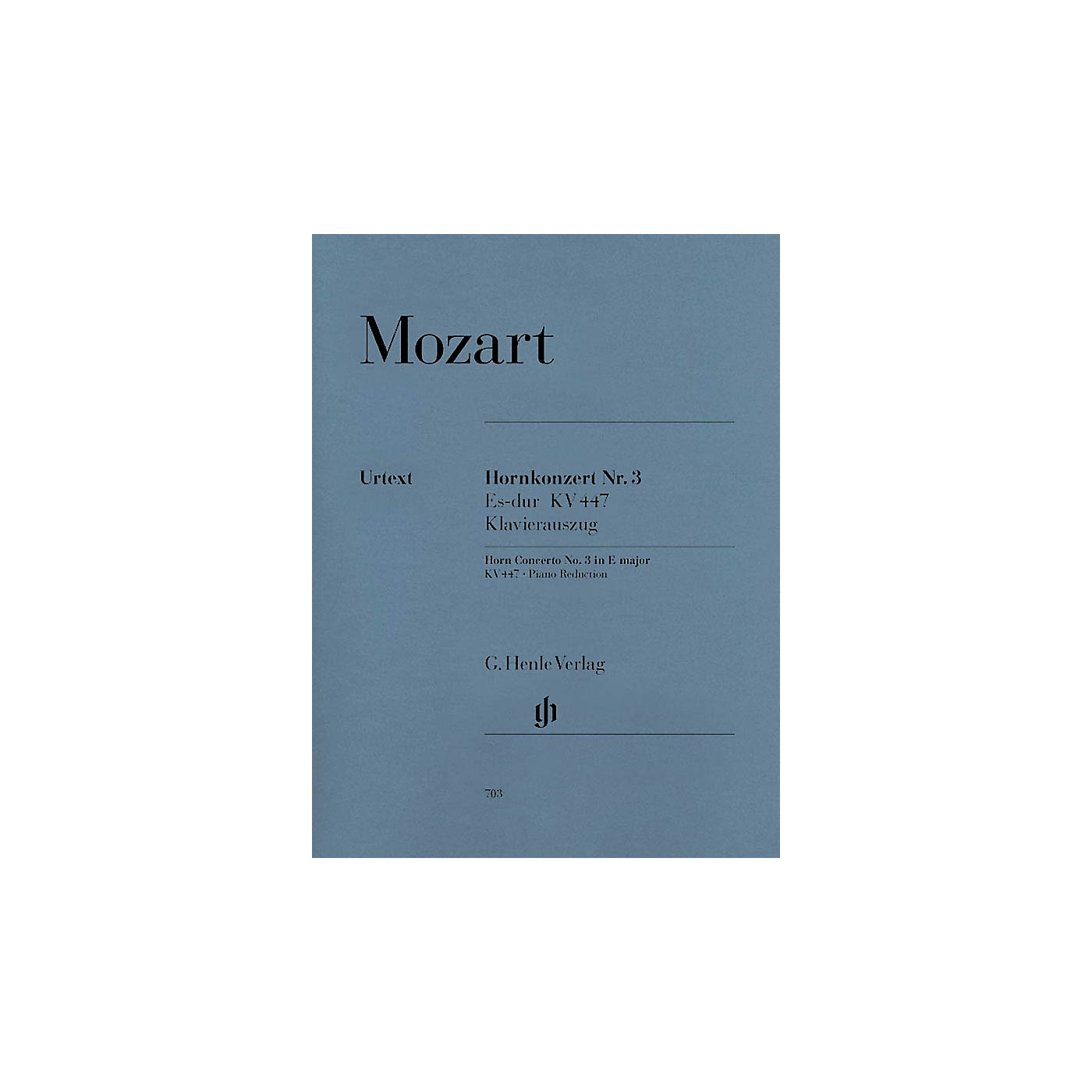 G. Henle Verlag Concerto for Horn and Orchestra No. 3 in E-Flat Major, K.447 Henle Music Folios Series Softcover thumbnail