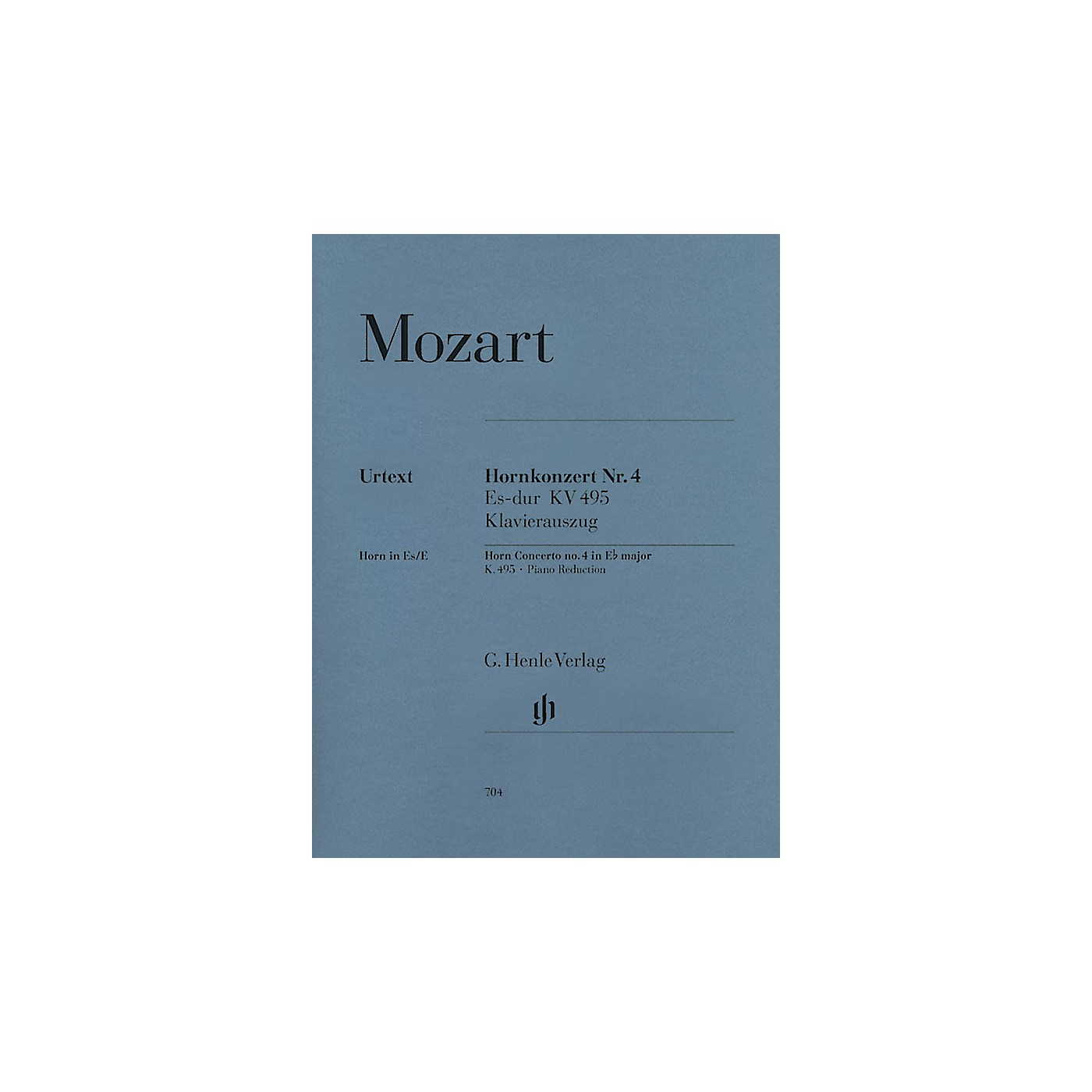 G. Henle Verlag Concerto for Horn and Orchestra No. 4 in E Flat Major,  K.495 Henle Music Folios Series Softcover thumbnail