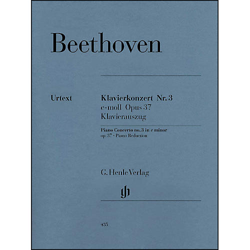 G. Henle Verlag Concerto for Piano And Orchestra C Minor Op. 37, No. 3 By Beethoven thumbnail