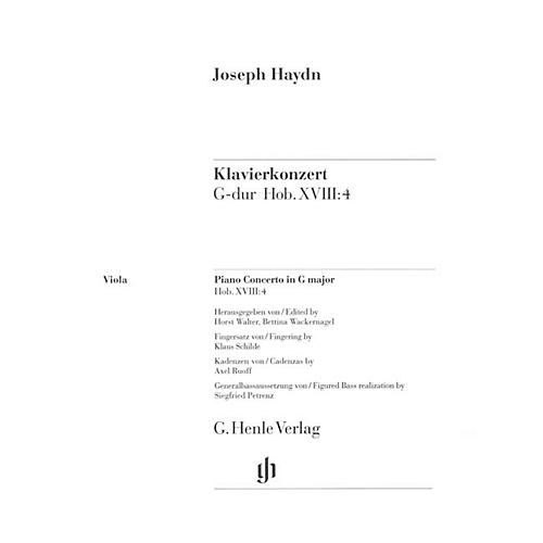 G. Henle Verlag Concerto for Piano (Harpsichord) and Orchestra G Major Hob.XVIII:4 Henle Music by Joseph Haydn thumbnail