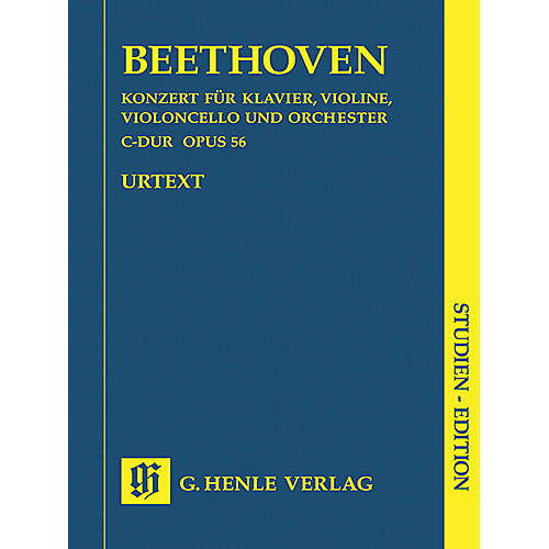 G. Henle Verlag Concerto for Piano, Violin, Violoncello, and Orchestra C Major Op. 56 Henle Study Scores by Beethoven thumbnail