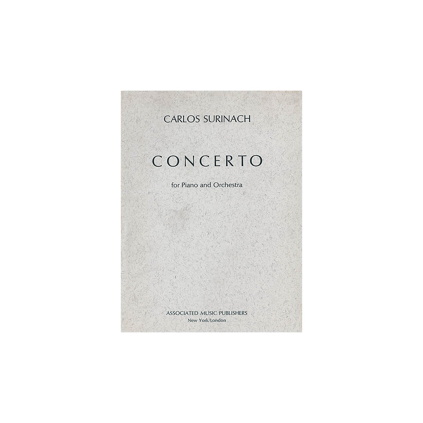 Associated Concerto for Piano and Orchestra (1973) (Full Score) Study Score Series Composed by Carlos Surinach thumbnail