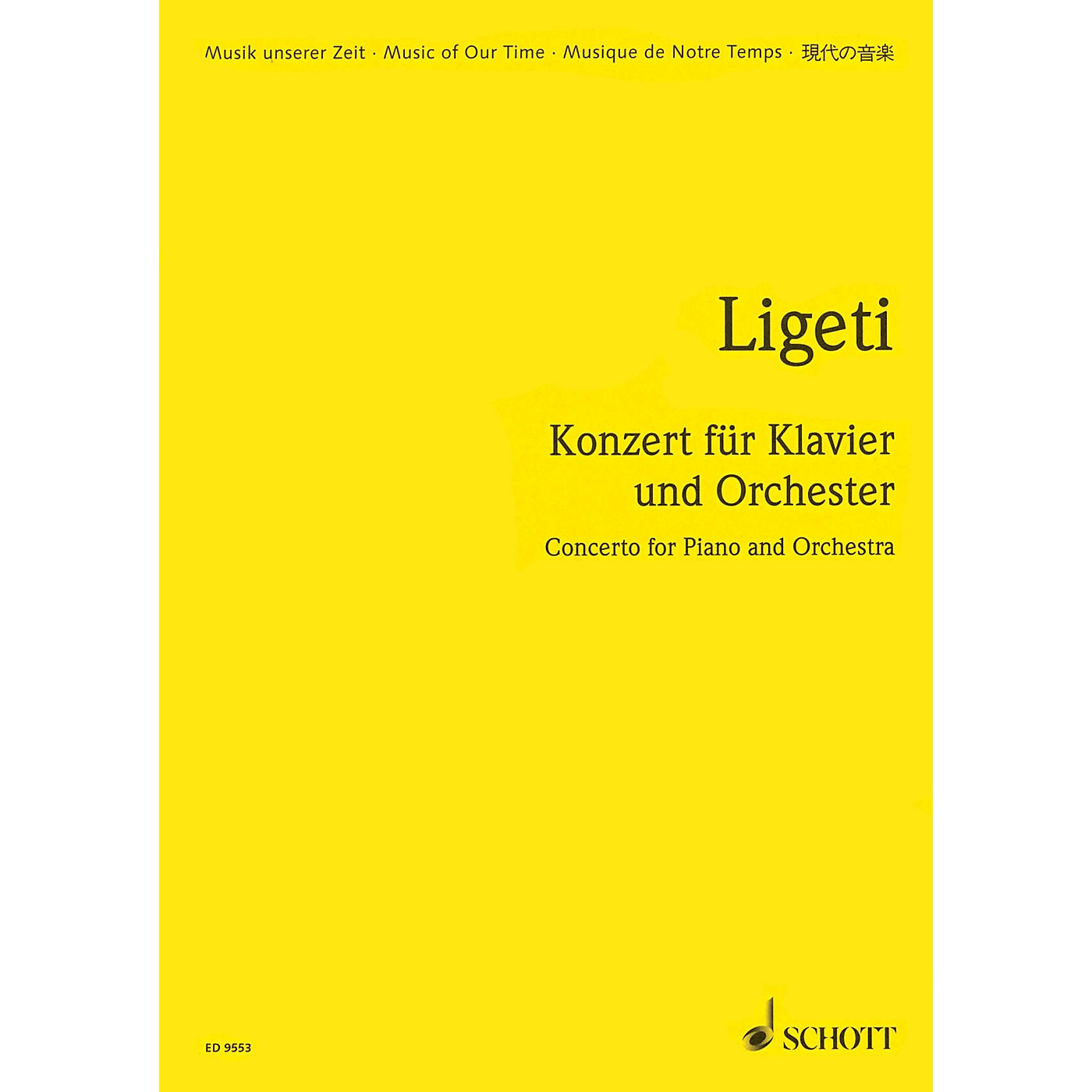 Schott Concerto for Piano and Orchestra (1985-88) (Study Score) Schott Series thumbnail