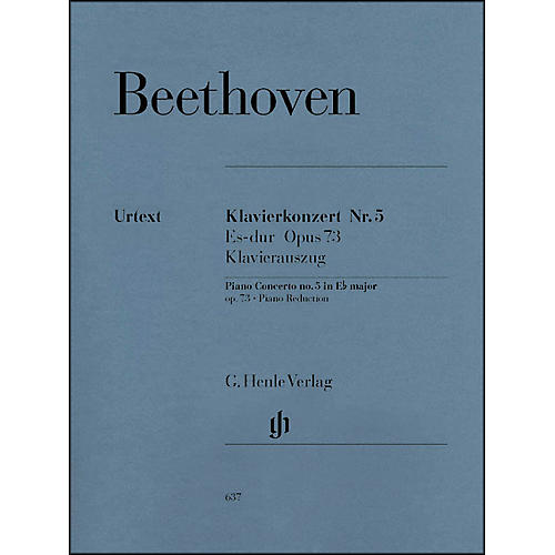 G. Henle Verlag Concerto for Piano and Orchestra E Flat Major Op. 73, No. 5 By Beethoven thumbnail