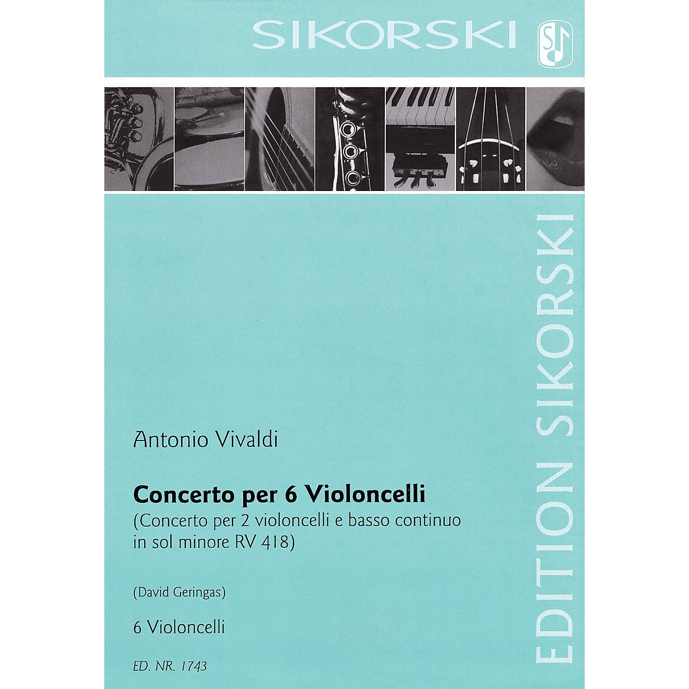 Sikorski Concerto for Six Violoncellos String Series Composed by Antonio Vivaldi Arranged by David Geringas thumbnail