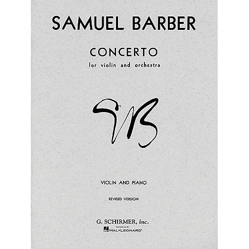 G. Schirmer Concerto for Violin Op 14 with Piano Reduction By Barber thumbnail