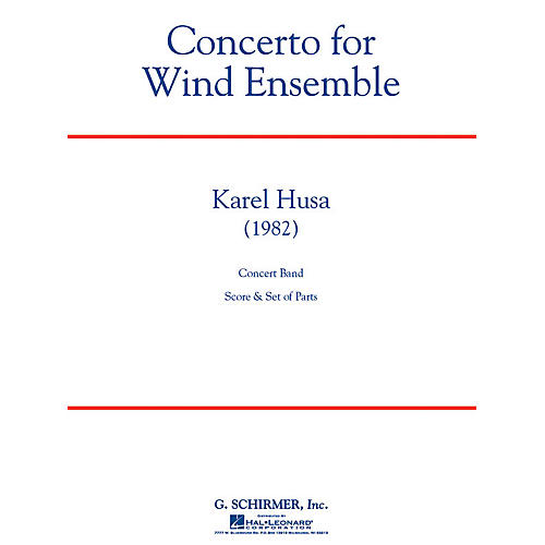 G. Schirmer Concerto for Wind Ensemble Concert Band Level 6 Composed by Karel Husa thumbnail