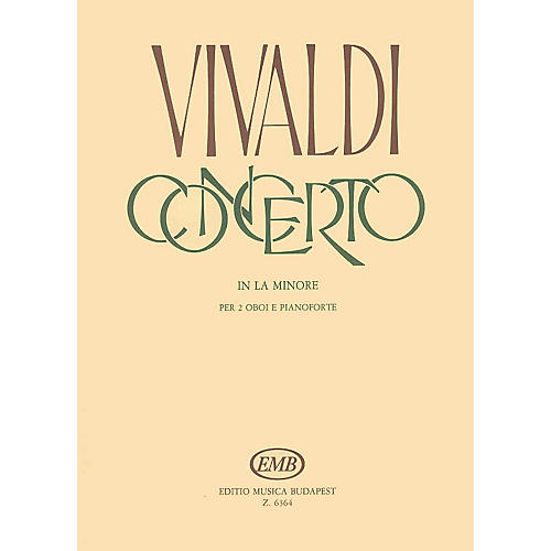 Editio Musica Budapest Concerto in A Minor for 2 Oboes, Strings and Continuo, RV 536 EMB Series by Antonio Vivaldi thumbnail