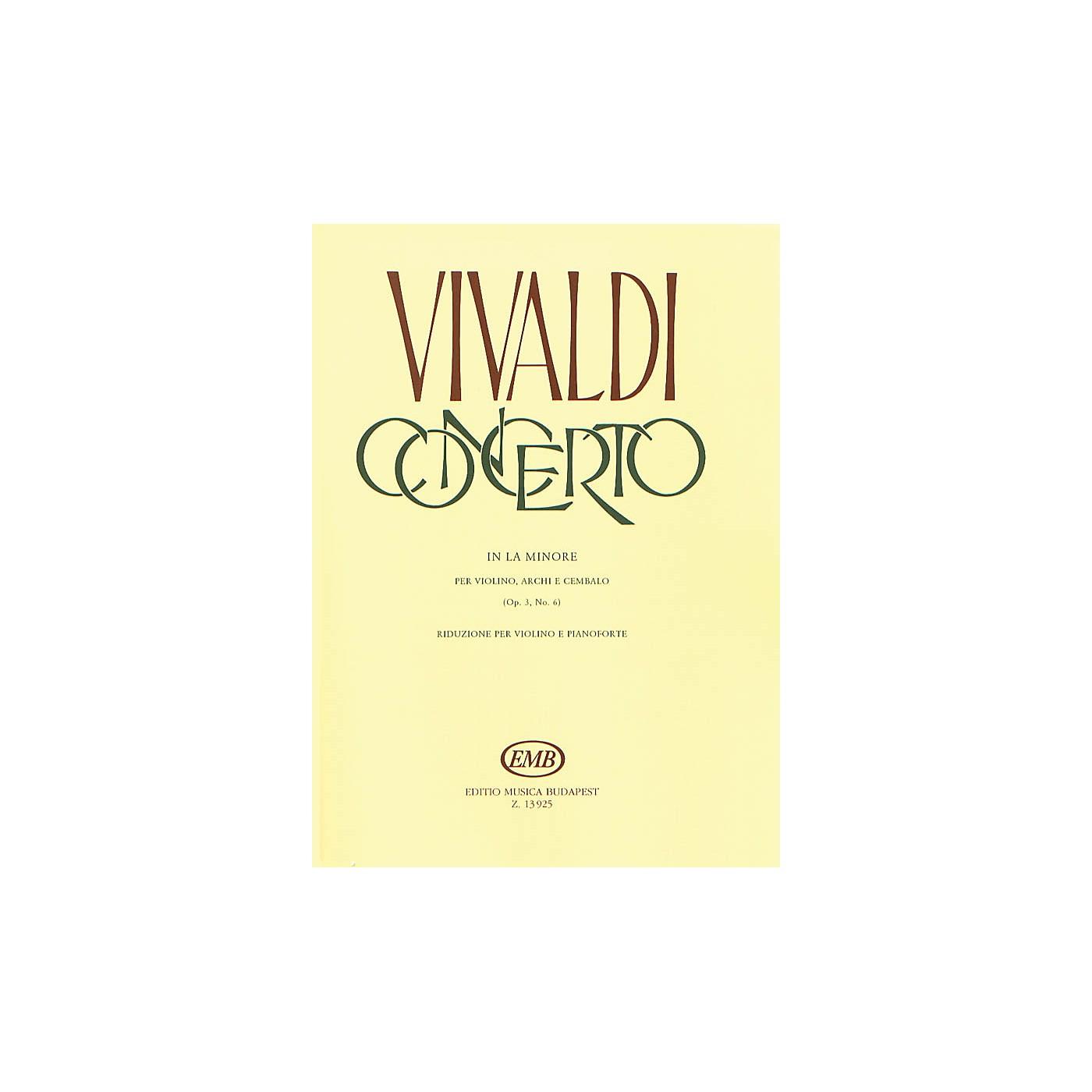 Editio Musica Budapest Concerto in A Minor for Violin, String and Cembalo RV 356 EMB Series by Antonio Vivaldi thumbnail