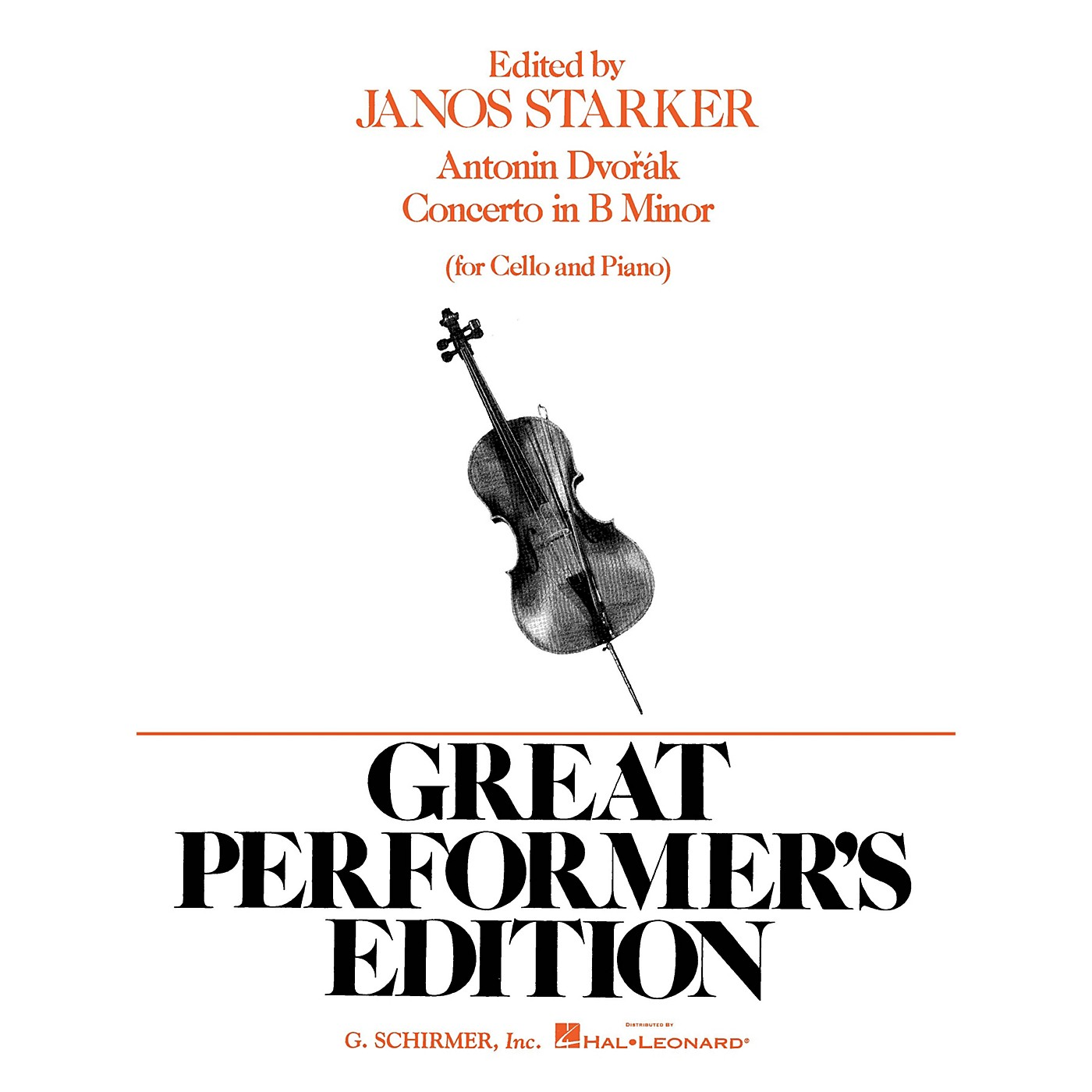 G. Schirmer Concerto in B Minor (Score and Parts) String Solo Series Composed by Antonín Dvorák Edited by J Starker thumbnail