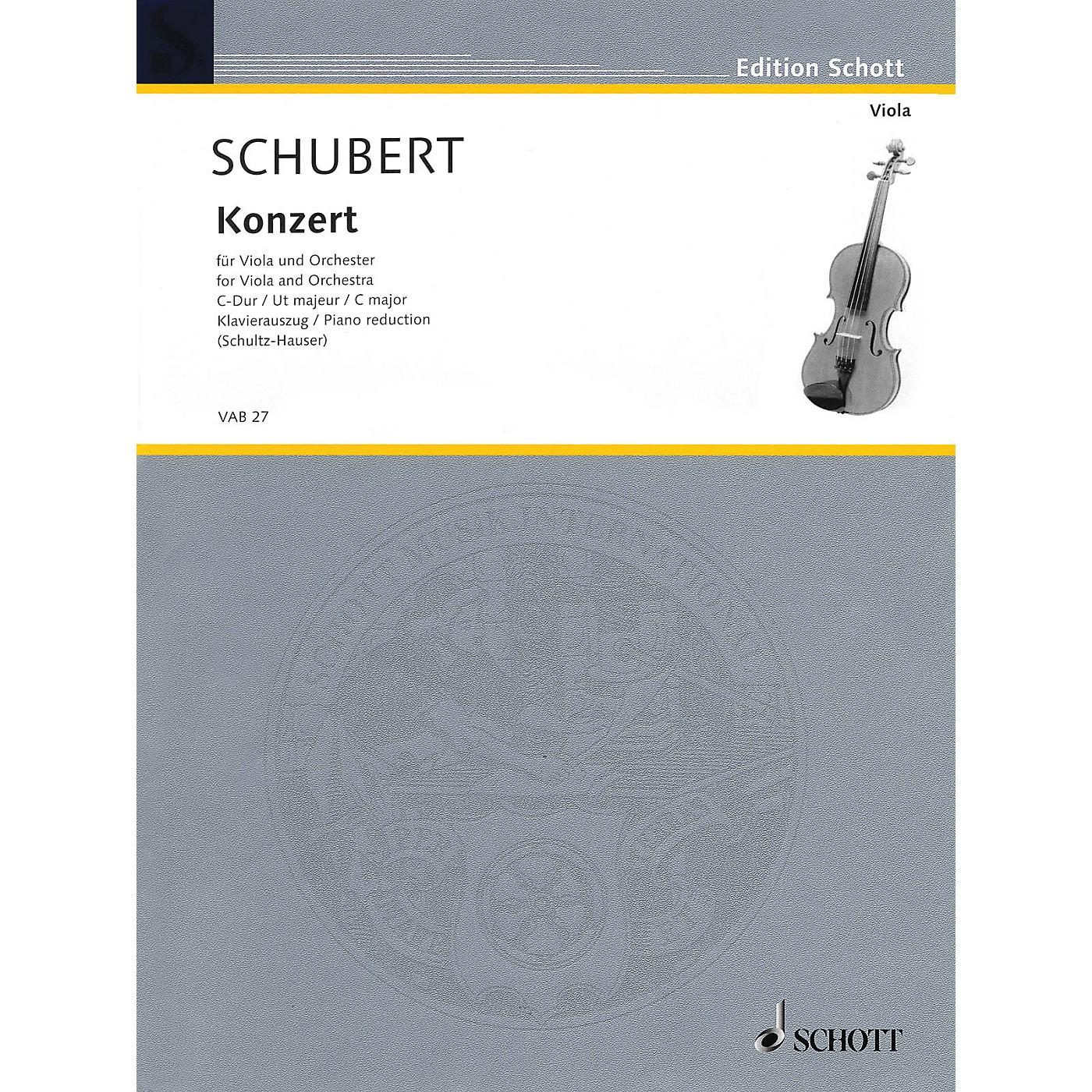 Schott Concerto in C Major Schott Series Composed by Joseph Schubert Arranged by Karlheinz Schultz-Hauser thumbnail