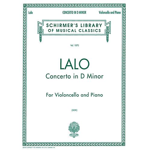G. Schirmer Concerto in D Minor (Score and Parts) String Solo Series Composed by Édouard Lalo Edited by Otto Deri thumbnail