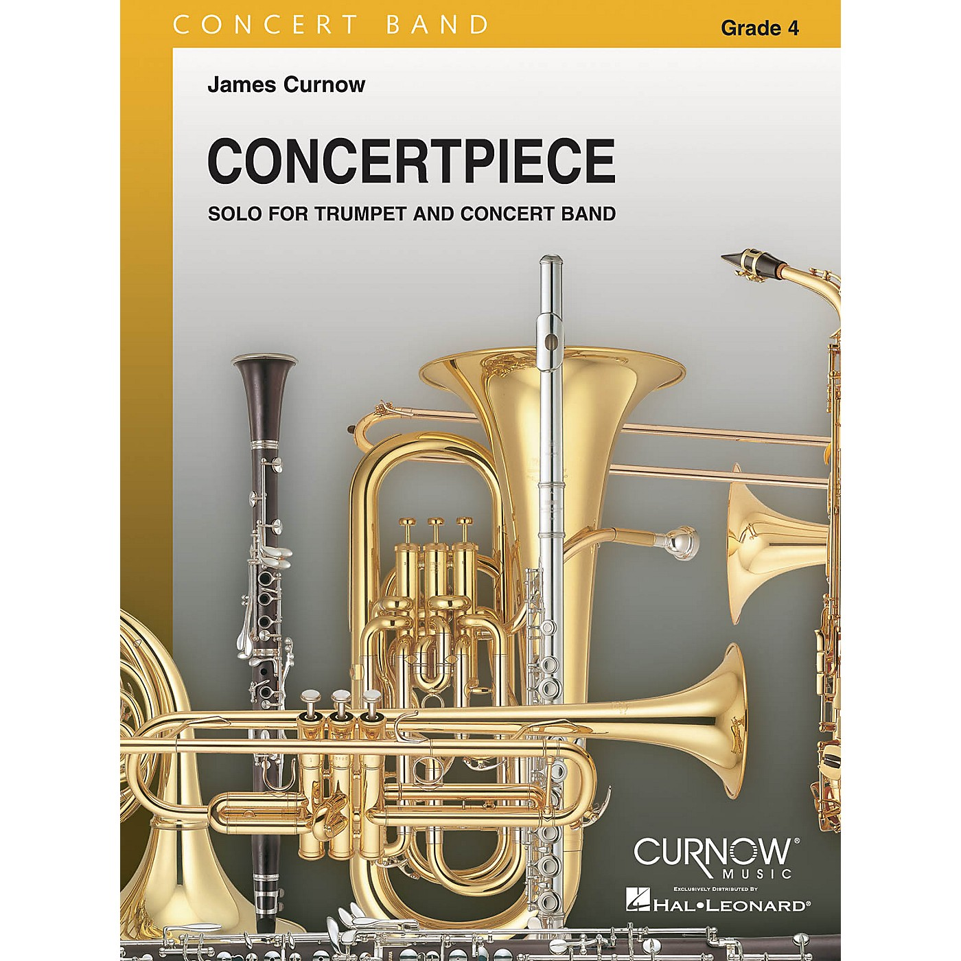 Curnow Music Concertpiece for Trumpet (Grade 4 - Score and Parts) Concert Band Level 4 Composed by James Curnow thumbnail