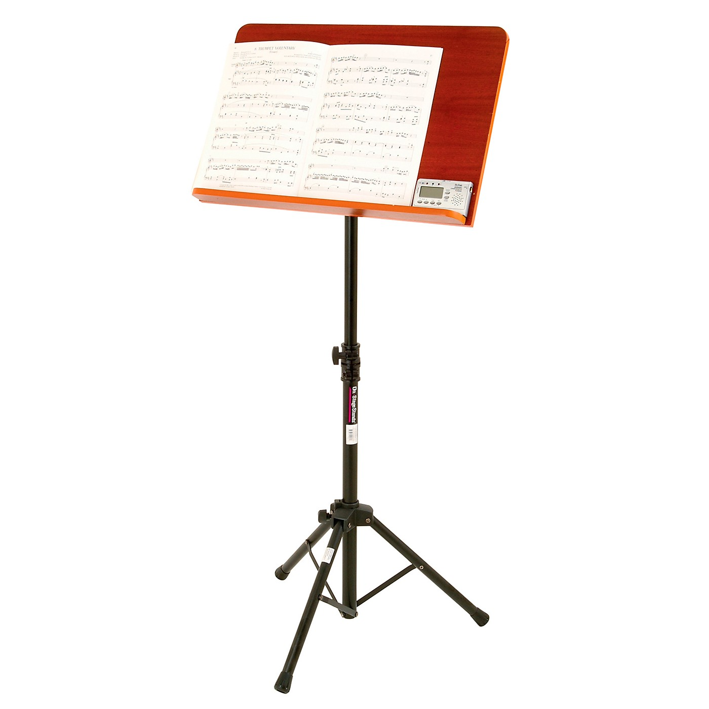 On-Stage Conductor Stand with Wide Wooden Bookplate thumbnail