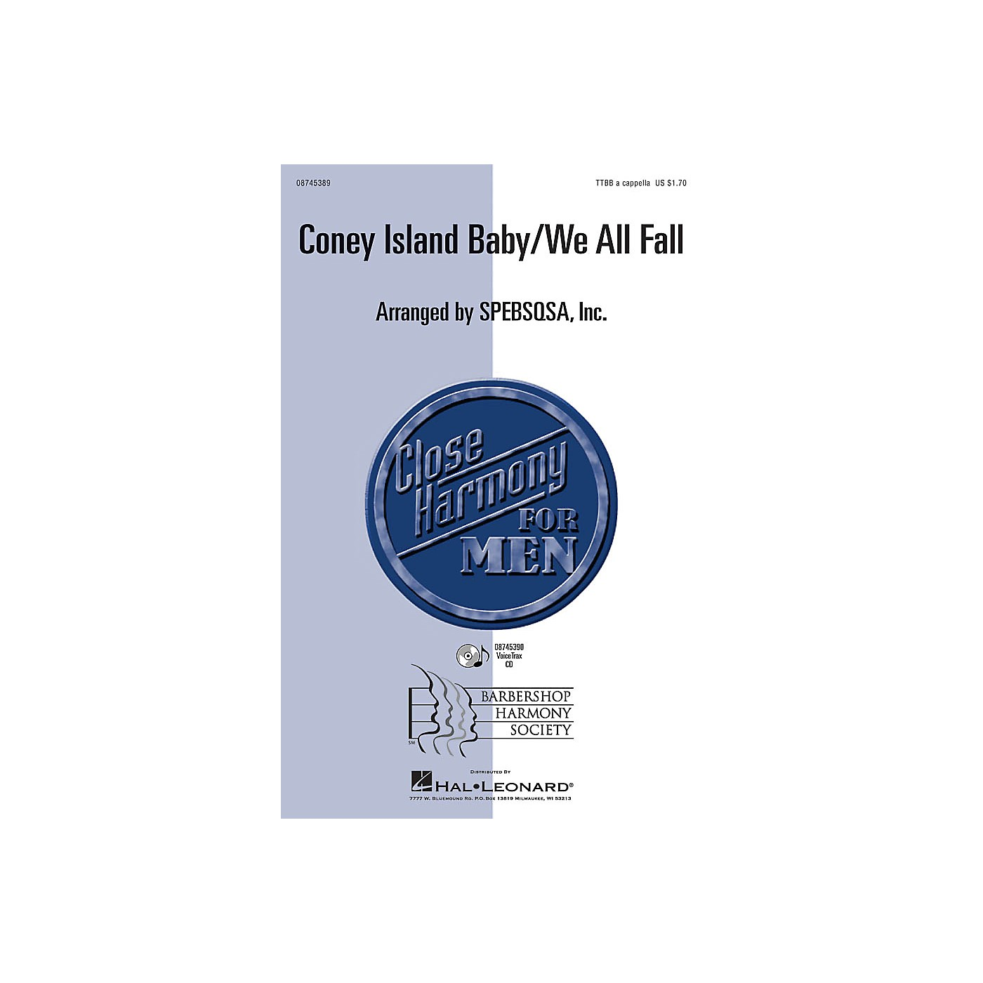Hal Leonard Coney Island Baby/We All Fall VoiceTrax CD Arranged by SPEBSQSA, Inc. thumbnail