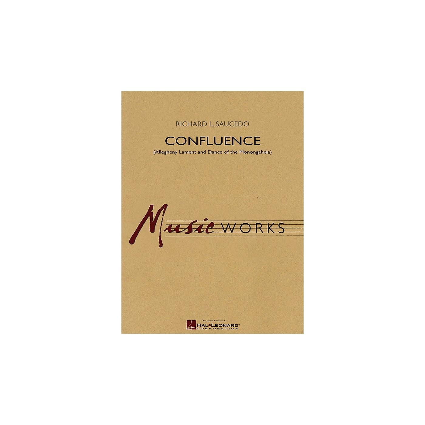 Hal Leonard Confluence (Allegheny Lament & Dance of the Monongahela) Concert Band Level 4 by Richard L. Saucedo thumbnail