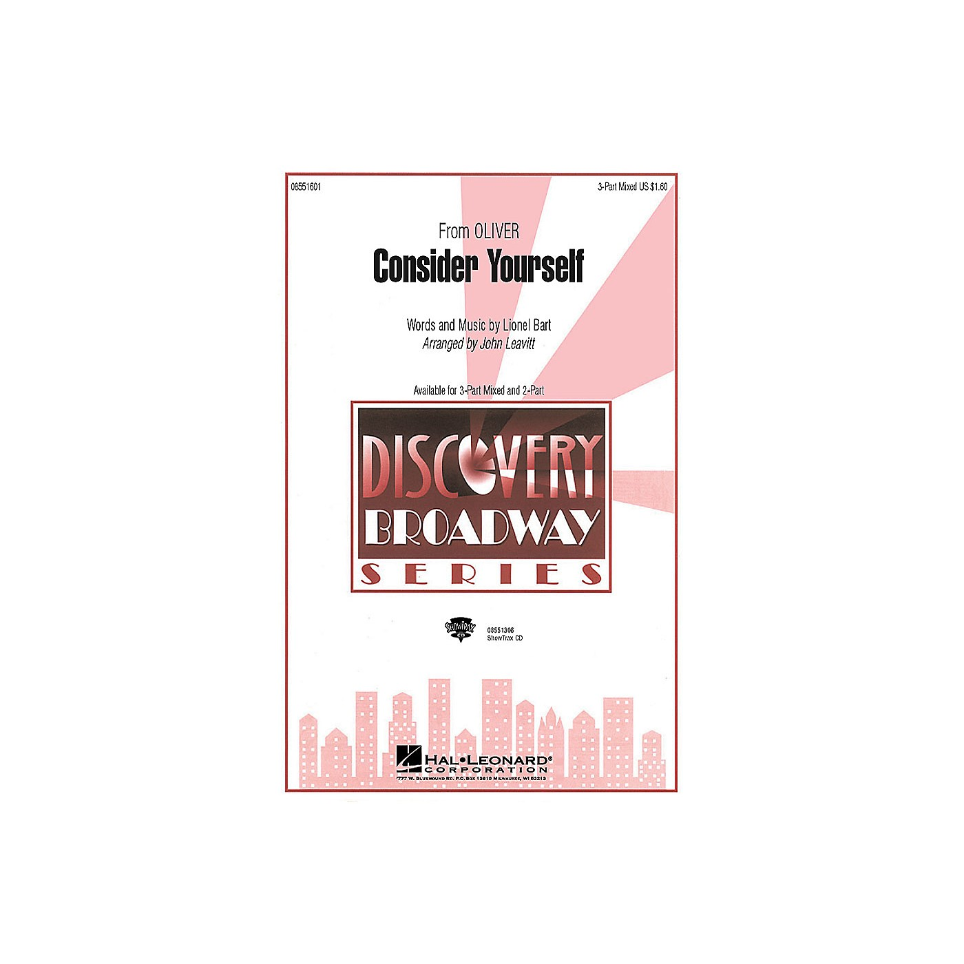 Hal Leonard Consider Yourself (from Oliver) (SATB) 3-Part Mixed arranged by John Leavitt thumbnail