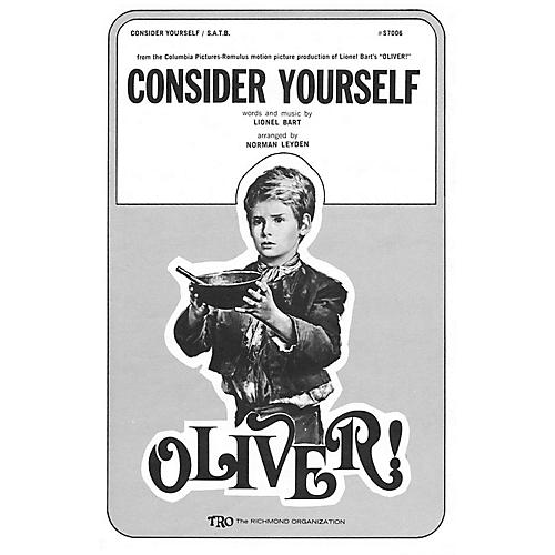 TRO ESSEX Music Group Consider Yourself (from Oliver) SATB Arranged by Norman Leyden thumbnail