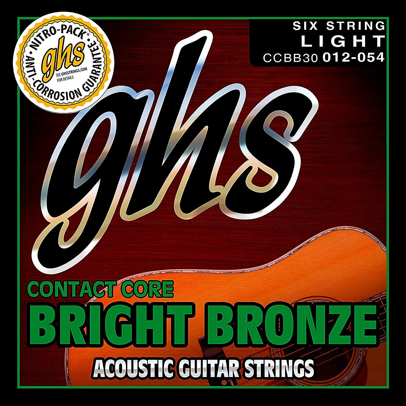 GHS Contact Core Bright Bronze Medium Acoustic Guitar Strings (12-54) thumbnail