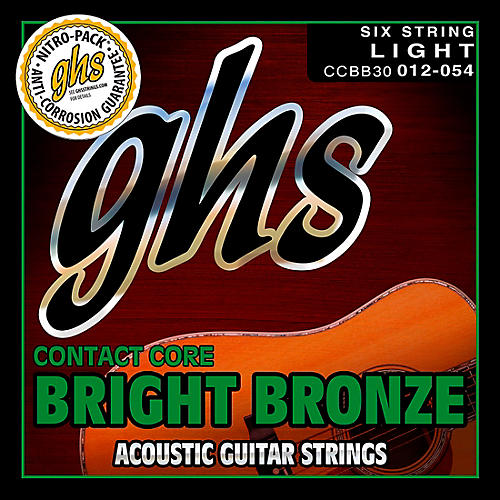 GHS Contact Core Bright Bronze Medium Acoustic Guitar Strings (12-54) thumbnail