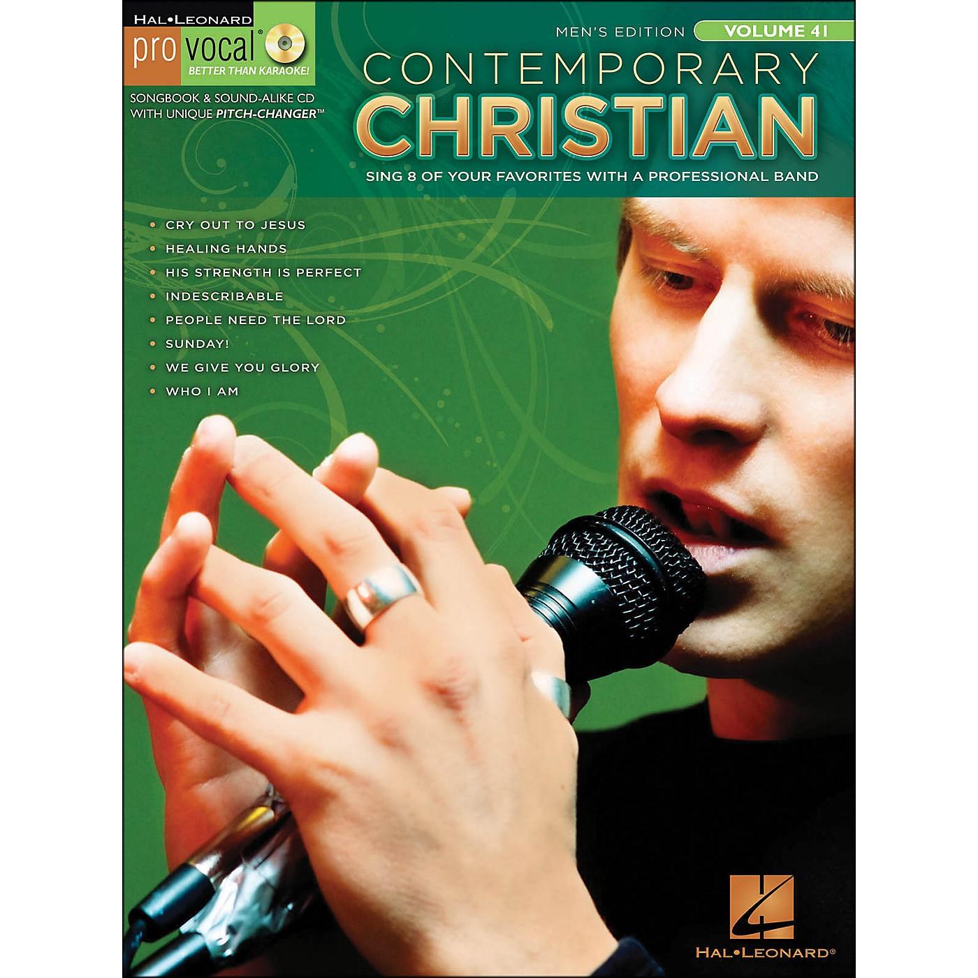 Hal Leonard Contemporary Christian Pro Vocal Songbook & CD - Men's Edition Volume 41 thumbnail