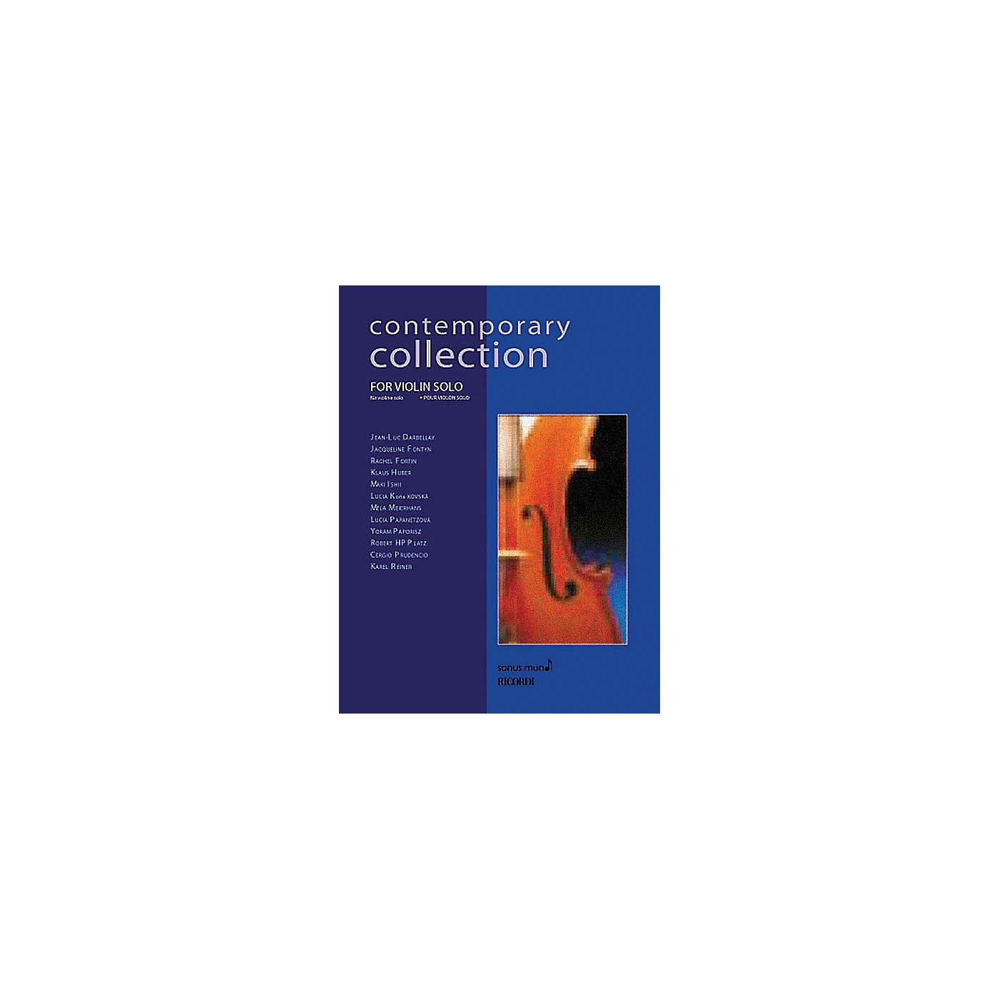 Ricordi Contemporary Collection for Violin Solo String Solo Series Softcover thumbnail