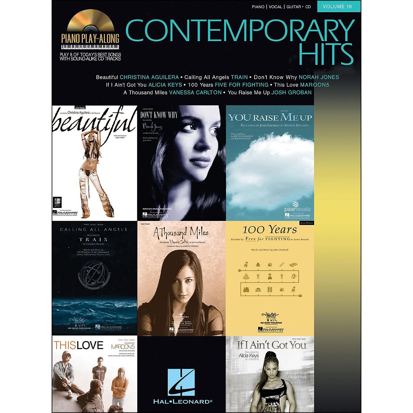 Hal Leonard Contemporary Hits Volume 19 Book/CD Piano Play-Along arranged for piano, vocal, and guitar (P/V/G) thumbnail