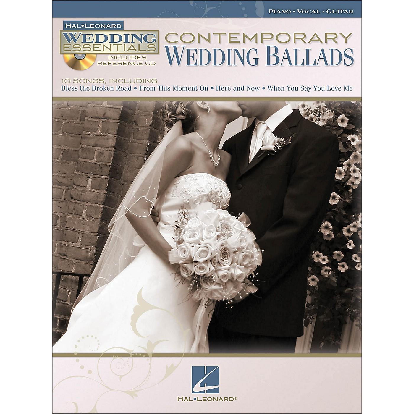 Hal Leonard Contemporary Wedding Ballads - Wedding Essentials Series (Book/CD) arranged for piano, vocal, and guitar (P/V/G) thumbnail