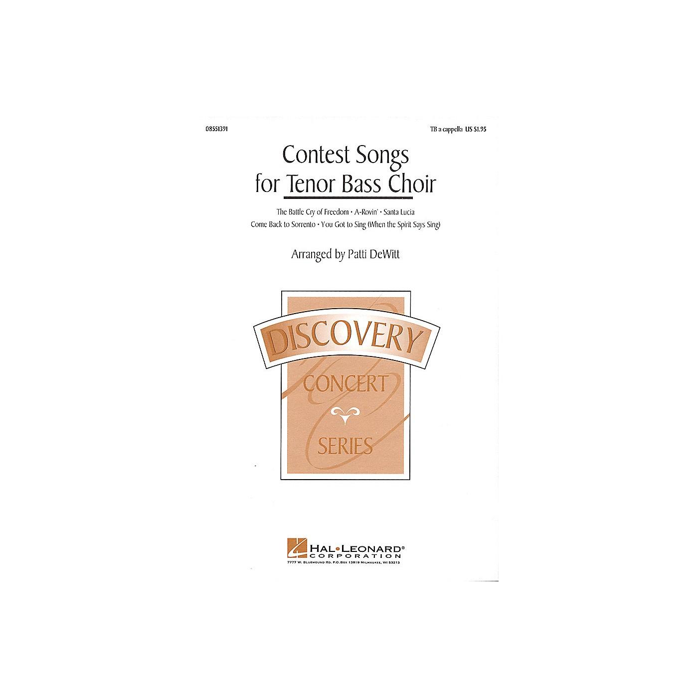 Hal Leonard Contest Songs for Tenor Bass Choir (Collection) TB A Cappella arranged by Patti DeWitt thumbnail