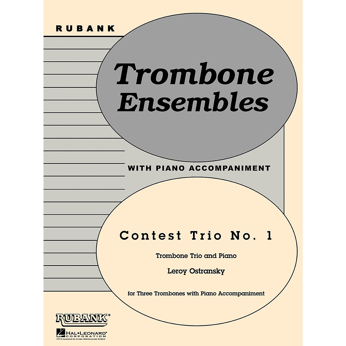 Rubank Publications Contest Trio No. 1 (Trombone Trio with Piano - Grade 3) Rubank Solo/Ensemble Sheet Series thumbnail