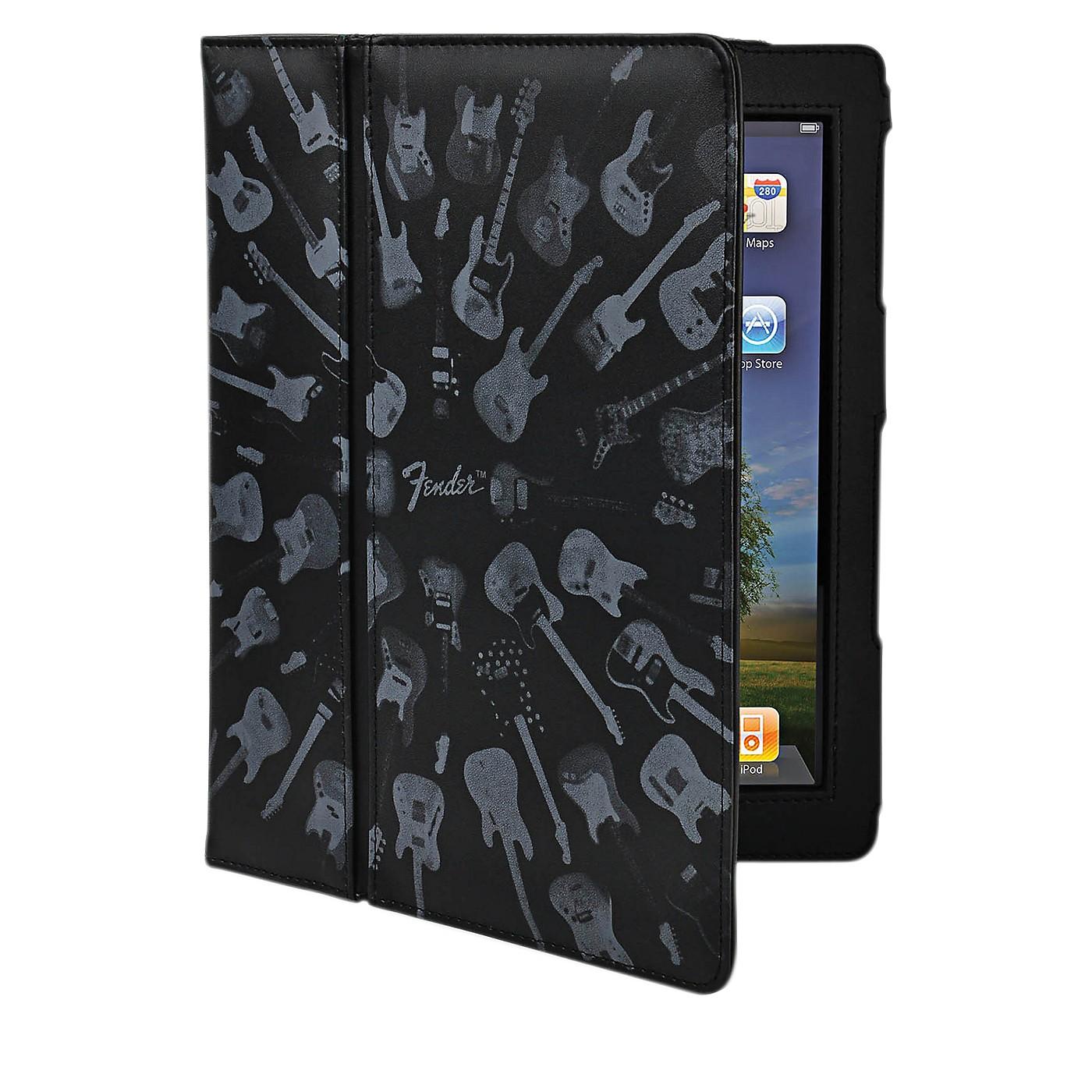 Hal Leonard Contour Design Fender iPad Black Guitar Army Folio Case thumbnail